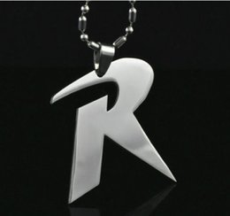 """Wholesale Stainless Steel R Jewelry - Marvel Jewelry Super Hero Letter """"R"""" Necklace Metal Stainless Steel Chain Necklace Movie Jewelry"""
