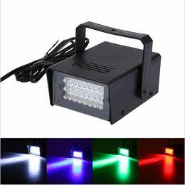 Wholesale Auto Dimming - High qulaity EU Plug Brightness 220V 3W 24 LED Operated DJ Strobe Lights Disco Party Club Stroboscope White stage light effects