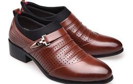 Zapatos de boda coreanos online-Los hombres blancos de primavera y verano se señalaron los zapatos de los trajes de negocios de los zapatos de cuero del juego Korean Air Británicos wedding @ 78