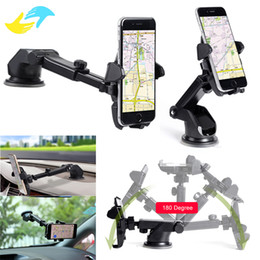 Wholesale Windshield Gps Holder - Universal Mobile Car Phone Holder 360 Degree Adjustable Window Windshield Dashboard Holder Stand For All Cellphone GPS Holders