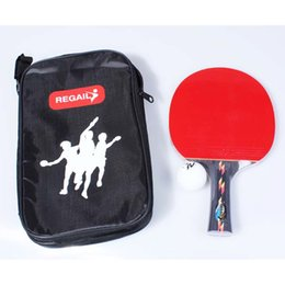 Bolas de grano online-High Quality Table Tennis Rackets Pimples-in Rubber Bat Ping Pong Paddle, 1 Racket blade + 1 Ball + 1 Racket Pouch