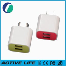 Wholesale Portable Charger S2 - 2A AU Plug Port USB Travel Adapter Portable Wall Charger For S7 S6 S5 S4 S3 S2 Note 4 3 For Z3 Z2 Z1 For iPhone 6 6 Plus 5 5S 4 4S 5C