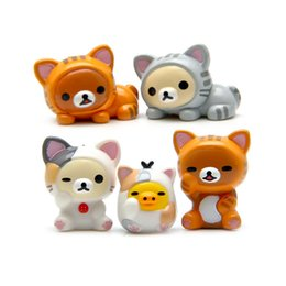Wholesale Cheese Cat Toy - cute bear chicken cosplay cheese cat hand DIY micro landscape gardening doll Action Figure doll Toy baby Toys funko pop toy