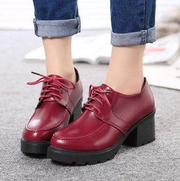 1251a506ded8 beautiful women new autumn shoes Korean classic rough heels fashion shoes  British style Martin boots shoes