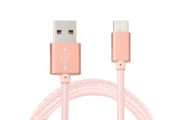 Wholesale Shipping Meizu - Free Shipping V8 USB Cables For Samsung Galaxy HTC Sony Xiaomi Meizu Braided USB Lightning Chargers Cables Good Quality Hot Sale