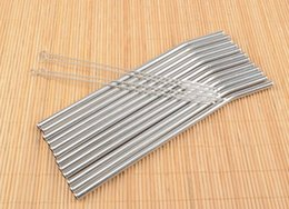Wholesale Wholesale Bar Cleaning Brushes - Newest Kitchen Bar Accessories 100Pcs Stainless Straws and 50 pcs Cleaner Brush Metal Drinking Straw Stainless Steel Bend free shipping 825