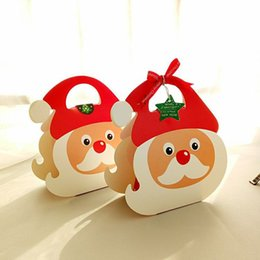 Wholesale Xmas Gift Boxes Wholesale - DIY Elk Santa Claus Christmas apple box cookie chocolate candy biscuit paper box Xmas decoration gift box