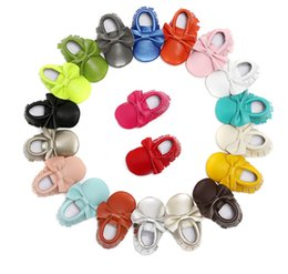Wholesale Leather Bow Top Wholesale - Top quality Baby shoes Genuine leather Slip-on Prewalkers Bow tassels moccasins infants toddler first walkers 2016 European Autumn Spring