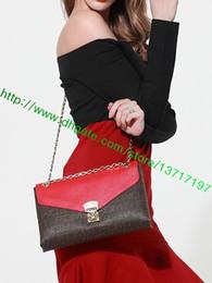 Canada Sac à main en cuir Lady en cuir enduit de qualité supérieure Palllas CHAINE M41741 M41201 M41635 M50069 M41223 Sac à main en cuir à rabat pour femme Offre