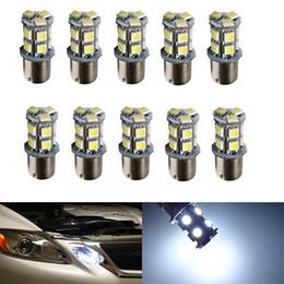 Wholesale Car Turn Signal Lights - 10x High Quality 1156 BA15S 13 SMD LED Bulb Lamp PY21W R5W Led Car Bulbs 13smd 5050 Brake Tail Turn Signal Reverse Lights Car Light