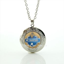Wholesale Women Sports Necklace - New elegant locket necklace New Orleans Saints Newest mix 32 sport champion accessory gift for men and women birthday NF130