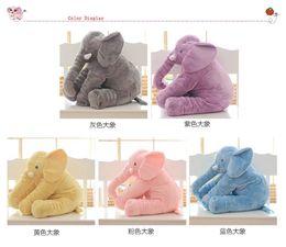 Wholesale Christmas Crib Bedding - free shipping Elephant Soft Automotive Baby Sleep Pillow Baby Crib Baby Bed Cushion Kids Portable Baby Children Gift Stuffed Plus Animals