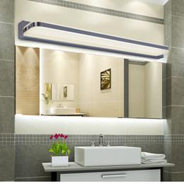 Wholesale Glass Mirror Wall - Acrylic Waterproof led mirror light 9W 12W 16W 24W 30W Led Wall Lights white AC85-265V SMD5730 bathroom mirror front light lamp