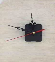 Wholesale Wall Clock Kits Wholesale - Quartz Clock Kit Movement Wall Amounted Mechanism DIY Repair Parts Tool Hand Work Spindle Mechanism Red Black Hands