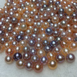 Wholesale Black Pearls 8mm - 6-8MM Round pearl White Pink Purple Black Freshwater Vacuum-Pack Oyster With Pearls Love Wish Pearl Oyster 4 Colors Pearl Almost flawless