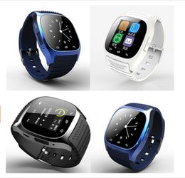 Wholesale Wrist Barometer - Bluetooth Smart Watches M26 for IOS iPhone 6 6S Android Samsung S6 S7 Edge Barometer Alitmeter Music Player Pedometer DHL Free OTH076