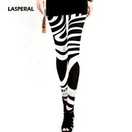 Wholesale Leggings Wholesale For Plus Sizes - Wholesale- LASPERAL Black White Striped Skinny Leggings for Women Plus Size XXL Legins New 2017 Slim Girl Pants Vintage Print Woman Clothes