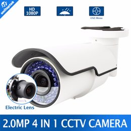 Wholesale Zoom Security Camera Lens - 1080P AHD Camera Motorized 4X Zoom 2.8-12mm Lens 2MP 4 IN 1 AHD CVI TVI CVBS Camera CCTV Security Outdoor OSD Menu+Dial Switch