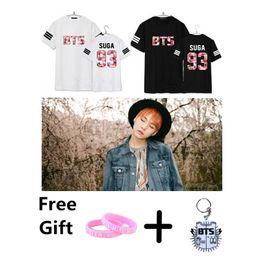Wholesale Novelty Bells - Wholesale- KPOP BTS Bangtan Boys Seoul Concert Jimin Jin V Rap monster T shirt cotton summer short sleeves tee