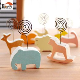 Wholesale Wooden Clip Draw - animals photos clip &photo holder, wooden message note clip pictures photo holder Home decor Arts crafts gift