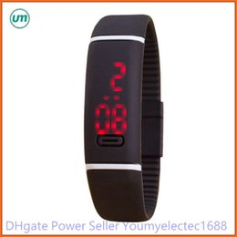 Wholesale Waterproof Touch Screen Rubber Watch - 2015 2016 newly Sport LED Watches red light Candy Color Silicone Rubber Touch Screen Digital Watches Waterproof Bracelet Wristwatch