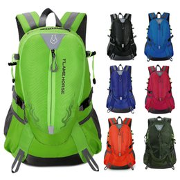 Wholesale Camping Bag Mountain Backpack - Flame Horse Outdoor Hiking Backpack Waterproof Nylon Men Women Bag Unisex Travel Bag Mountain Camping Climbing Mochilas Rucksack