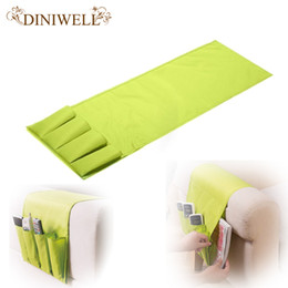 Wholesale Fabric Couches - Wholesale- DINIWELL Novelty Household Sofa Couch Remote Control Holder Arm Rest Organizer Storage Bag 4 Pocket Sundries Zakka Storage Pouch