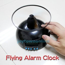 Wholesale Flying Clock - New Creative Toy With Clock Backlight Alarm Clock Gift Flying Lazy Helicopter Flying Alarm Clock with Snooze Function order<$18no track
