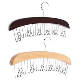 Wholesale Hanging Metal Shelves - Wholesale free shipping Hot Sale 12 Hardwood Belt Tie Clost Clothing Accessory Hanger Hardwood Belt Organizer Hanging Hanging
