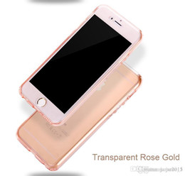 Wholesale Double Side Phone Case - Ultrathin Clear Transparent TPU Silicone Flexible Soft Double-Side phone cases covers for iphone 6 6s plus 360 Protect Phone