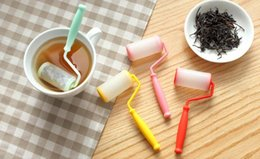 Wholesale Painting Safe - New arrivel paint roller tea strainer Cretive roller tea infuser Safe food grade silicon tea strainer tea set small accessories