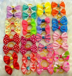 Wholesale Plaid Hair Bows - mix style Handmade Dogs Bow headband Ties Dog head hair band hair ornaments cat nick ties Jewelry Accessories decorations supplies