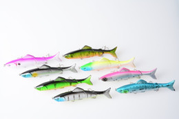 Wholesale Soft Lure Pike - 40pcs 12.5CM 17.7G 4#hook fishing lures plastic minnow jointed segmented pike bass fishing baits isca de pesca fishing tackles
