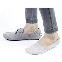 Wholesale Invisible Cut - Wholesale-Mens Casual Loafer Boat Low Cut Socks Invisible Sock Shallow Mouth Anti-odor Moccasins Socks 3 Color Choose