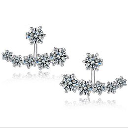 Wholesale Snow White For Girls - Top Grade Silver Earrings Girl Hot Sale Crystal Snow Stud Earrings for Wedding Party Fashion Jewelry Wholesale Free Shipping - 0033WH