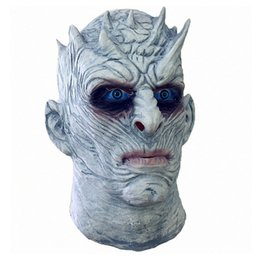 Wholesale White Heads - Halloween Mask Cosplay Game of Thrones Night's King White Walker Men's Full Head Mask Cosplay Halloween Outfit