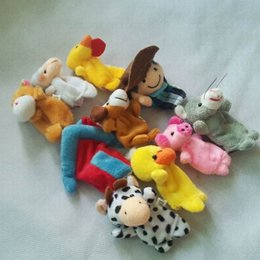 Wholesale Old Macdonald Finger Puppets - 5SET Plush Finger Puppets Pattern For Kids Students Talking Props Toys dolls World The Nursery Rhyme-Old Macdonald Had A Farm