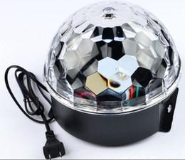 Wholesale Lighting Ball Voice Control - LED voice-control crystal magic ball lamp Magic ball party lights