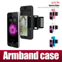 Wholesale Cellphone Sports Band For Running - For Samsung S7 Edge Case Iphone 7 Waterproof Sports Running Armband Case Workout Armband Holder Pounch Iphone 5s CellPhone Arm Bag Band