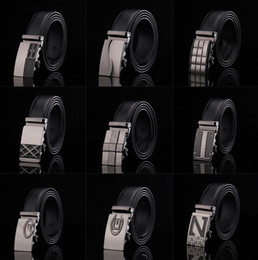 Wholesale Fashion Design Mens Belt Buckle - 20PCS HHA779 Hot 77 designs Fashion belt MENS Genuine Leather belts Waist Strap Belts Automatic Buckle Black leisure business leather belts