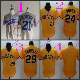 Wholesale Pittsburgh Pirates Authentic Jersey - pittsburgh pirates #21 roberto clemente #24 barry bonds 2016 Baseball Jersey Cheap Rugby Jerseys Authentic Stitched Free Shipping Size 48-56