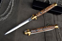 Wholesale Blade Figure - Outdoor Tools AKC 13 Inch Black Horn Figured Sycamore Handle 440C Knife Hunting Knife Survival Knife Camping Knife F14L