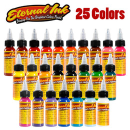 Wholesale 25 Ink Tattoo - Top quality New Kind Tattoo Ink Set 25 Colors lot 1oz 30ml Bottle Tattoo Pigment Kit for 3D Makeup Beauty Skin