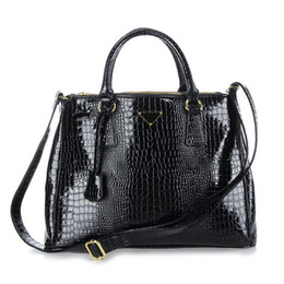 Wholesale Interior Alligator Crocodile - Ladies High Quality Crocodile Pattern Leather Totes Brand Designer Womens Handbags Alligator Killer Bag Shoulder Bag