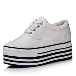 Wholesale Low Heel Formal Shoes Women - PP FASHION Formal Wedges Women's Low Top Lace Up Platform Shoes Hidden Heel Canvas Sneakers Sports sneakers