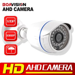 Wholesale Security Camera High Definition - Analog High Definition Surveillance 1.0MP 2MP AHD Camera 2000TVL AHDH 720P 1080P AHD CCTV Camera Security Bullet Outdoor Low 0.001Lux