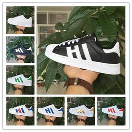 Wholesale Small Heels Women Shoes - Brand Small White Shoes Three bars Superstar Flat Heel Casual Sneakers For Men Women Cheap Casual Zapatos Running Shoes Size 36-44