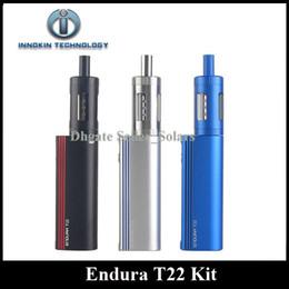 Wholesale Black Box Usb - Authentic Innokin Endura T22 Starter Kit 2000mAh Built In Lipo Box Mod Vaporizer Kit Micro USB Charging with Prism T22 Tank