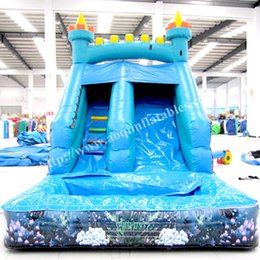 Wholesale Play Park Kids - AOQI amusement park inflatable kids toy mini water slde home usd inflatable playground garden inflatable bouncer slide for promotion