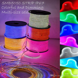 100M 110V / 220V à haute tension SMD 5050 RVB ont mené des lumières de bandes imperméables + IR à télécommande + alimentation d'énergie ? partir de fabricateur
